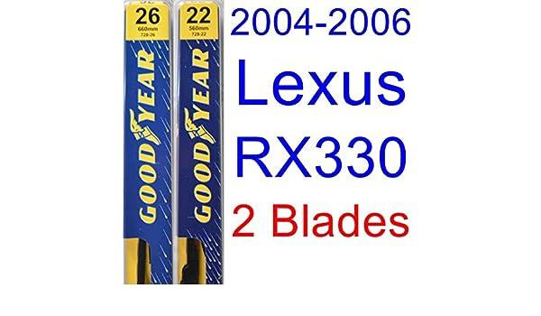 2004 - 2006 Lexus RX330 hoja de limpiaparabrisas de repuesto Set/Kit (Goodyear limpiaparabrisas blades-premium) (2005): Amazon.es: Coche y moto