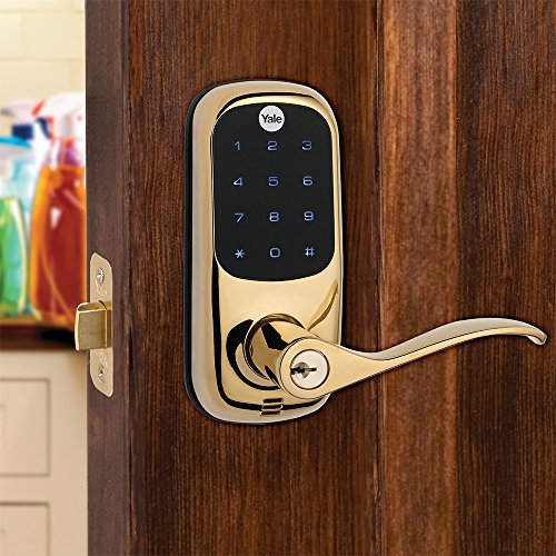 Yale Real Living Keyless Touchscreen Z Wave Lever Lock