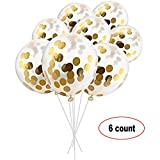 Wenosda 12pcs Confetti Balloons 12 inches Party Balloons for Wedding Celebration Decoration (B, 36Inch)