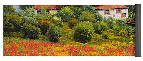 Pixels Yoga Mat w/ Bag ''La Nuova Estate'' by Pixels