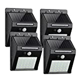 Outdoor Solar Lights, ComLeds 30 LEDS Motion Sensor Light Wireless Security Lights Wide Angle Lighting with 3 Working Mode Waterproof(IP65) Solar Light for Porch Front Door Yard Garage Driveway 4Packs Review