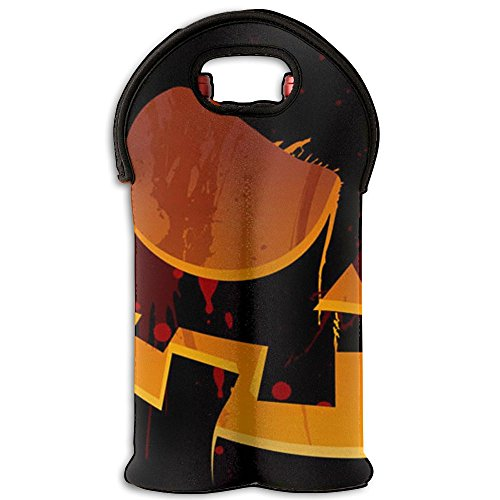 [Bloody Pumpkin Clever Halloween Costumes Foldable Wine Tote (1-Pack) Color] (Quick And Clever Halloween Costume Ideas)