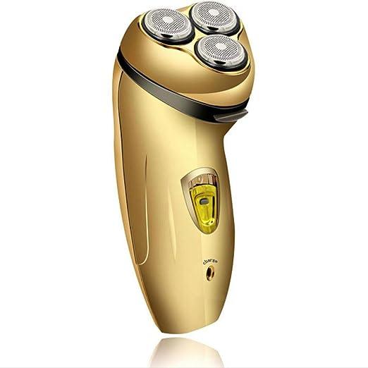 YOYO Afeitadora Eléctrica Rotary Máquina De Afeitar Mojado Seco Barba Trimmer Inalámbrico Trimmer USB Recargable 2 En 1: Amazon.es: Hogar
