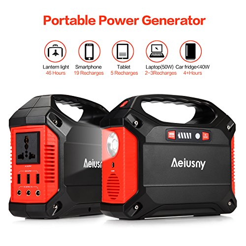 Portable Generator, 155Wh Power Inverter Battery Camping