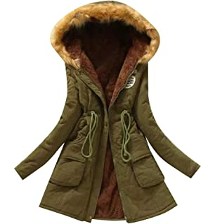 Comaba Mens Brumal Mid-Long Thicken Outwear Warm Hooded Down Parka