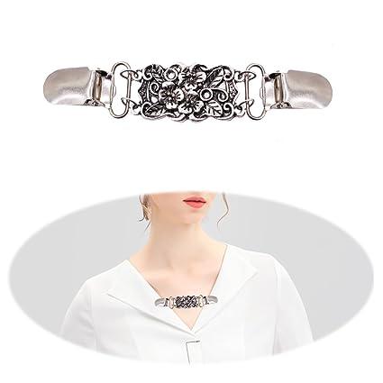 63993a813ea6 Cardigan Clip Vintage Sweater Clip Women Retro Rhinestone Back of Dresses  Shawl Clip Elegant Dainty Crystal