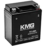 KMG YTX7L-BS Sealed Maintenance Free Battery High Performance 12V SMF OEM Replacement Powersport Motorcycle ATV Scooter