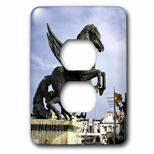 Danita Delimont - statues - Equine sculptures link Getsemani with El Centro districts, Colombia. - Light Switch Covers - 2 plug outlet cover - Outlets Centro El