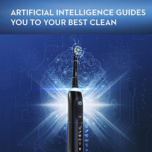 Oral-B Genius X Limited, Rechargeable Electric Toothbrush with Artificial Intelligence, 1 Replacement Brush Head, BROAGE Travel Case, Midnight Black