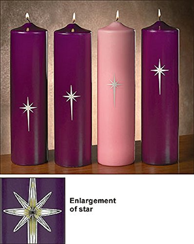 Advent Star of Bethlehem Pillar Set by AT001