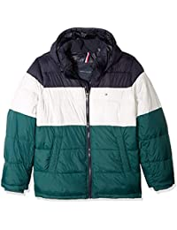 Men's Big and Tall Classic Hooded Puffer Jacket, Green...