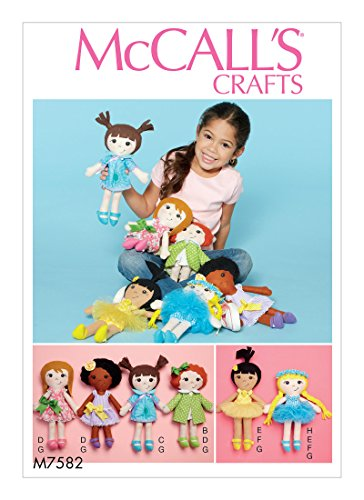 MCCALLS M7582 Cloth Doll and Clothes SEWING PATTERN