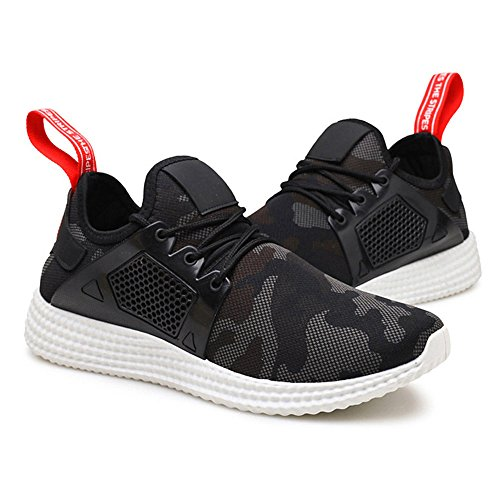 Fashion Mens Straps Sports Running Sneakers Camouflage Shoes Black Q8MPE65MBt