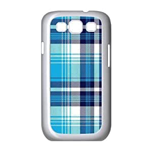 Custom Check Pattern Back Cover Case for SamSung Galaxy S3 I9300 JNS3-076