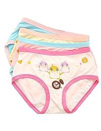 Little Girls Cotton Briefs Underwear Super Soft Panties 5-Pack