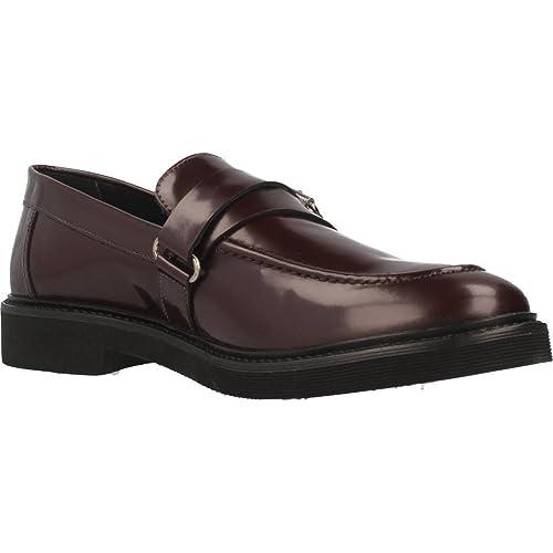 Geox Mocasines Para Hombre, Color Rojo, Marca, Modelo Mocasines Para Hombre  U DAMOCLE Rojo: Amazon.es: Zapatos y complementos