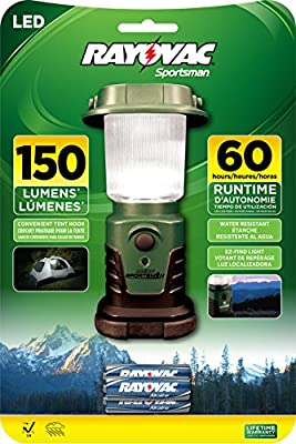 Rayovac Sportsman 150 Lumen 3AA LED Mini Lantern with Batteries (SP1W3AALN-BA)