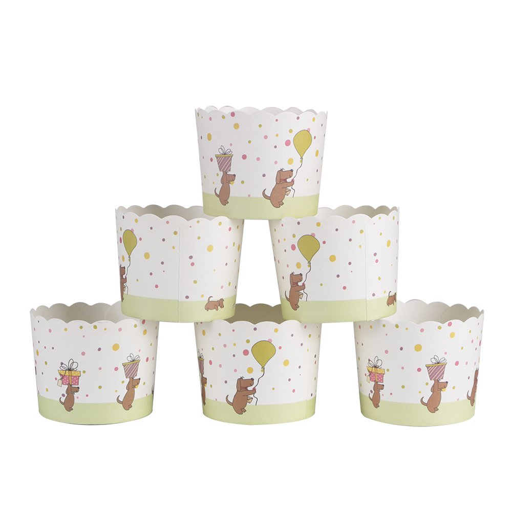 Juego de moldes papel Webake para magdalenas, 25 unidades, en color rosa con lunares, para muffins o cupcakes, papel, amarillo, 25 unidades: Amazon.es: ...
