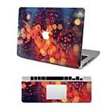 "Vati Leaves Removable Rain Protective Full Cover Vinyl Art Skin Decal Sticker Cover for Apple MacBook Air 13.3"" inch (A1369/A1466)"