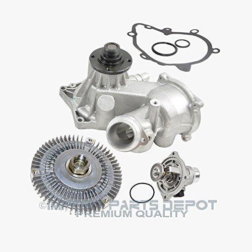 (Water Pump Fan Clutch Thermostat Kit for BMW E38 540i 740i 740iL Premium 11510393336/11527502804/11531436386 (3pcs) New)
