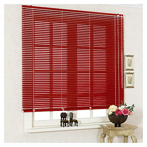 RZEMIN-Venetian Blinds Shutter Horizontal Aluminum Red Easy to Install Dimmable Day and Night Bathroom Privacy Protection, Customizable Size (Color : A, Size : 95cmX133cm)