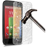 Gadget Giant Motorola Moto G Premium Tempered Glass Screen Protector Skin Cover - Explosion & Shatter Proof - Microfibre Cloth & Dust Collection Tape Included