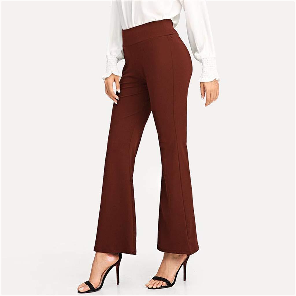 Amazon.com: Psunrise Pantalones Womens Summer Slim Solid ...
