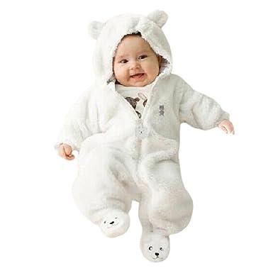 394b61a3ab773 Manadlian Ensemble de Vêtements de Bébé, Automne Hiver BéBé Garçon Fille  Ours Sweat à Capuche