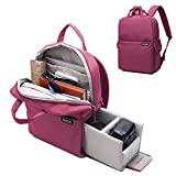 Women's Camera Backpack  DSLR SLR Camera Bag Travel Outdoor Waterproof Tablet Laptop Bag for Sony Canon Nikon - Red