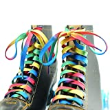 DECKER Flat Wide Rainbow Shoelaces 2 Pairs Lace for