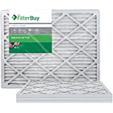 FilterBuy 12x30x1 MERV 8 Pleated AC Furnace Air Filter, (Pack of 4 Filters), 12x30x1 – Silver
