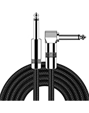 Guitar Cable 10ft New bee Electric Instrument Cable Bass AMP Cord for Electric Guitar, Bass Guitar, Electric Mandolin, Pro Audio (Right Angle to Straight, Black) …