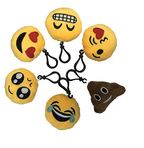 AOBOR 2.4 Inch Mini Emoji Plush Key-chain Bag Accessory Sew of - Emoticon Sunglasses On Puts