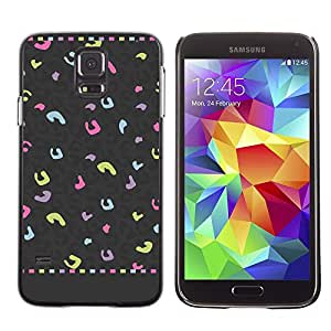For SAMSUNG Galaxy S5 V / i9600 / SM-G900F / SM-G900M / SM-G900A / SM-G900T / SM-G900W8,S-type® Spots Abstract Pattern Grey Pink - Arte & diseño plástico duro Fundas Cover Cubre Hard Case Cover