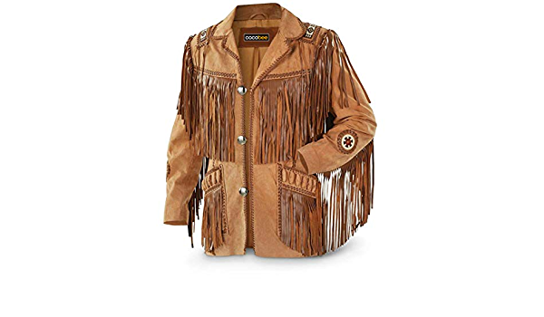 Men\u2019s North American Frontier Cowboy  Western Jacket Leather Size: Large
