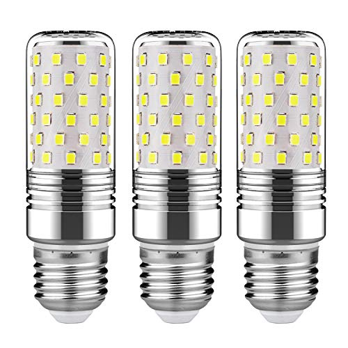 GEZEE 15W LED Cylindrical Bulb, E26 LED Candelabra Light Bulbs 120 Watt Equivalent,1500lm, Daylight White 6000K LED Chandelier Bulbs, Non-Dimmable LED ()