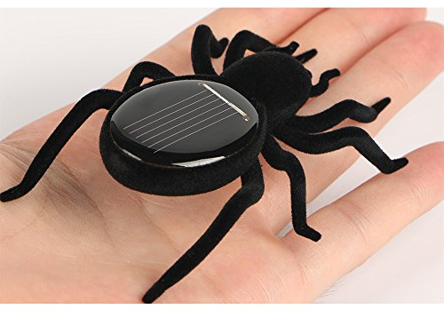Qinmay Solar Powered Automatic Solar Spider Tarantula Educational Robot Scary Insect Gadget Trick Solar Kids Robot Toy