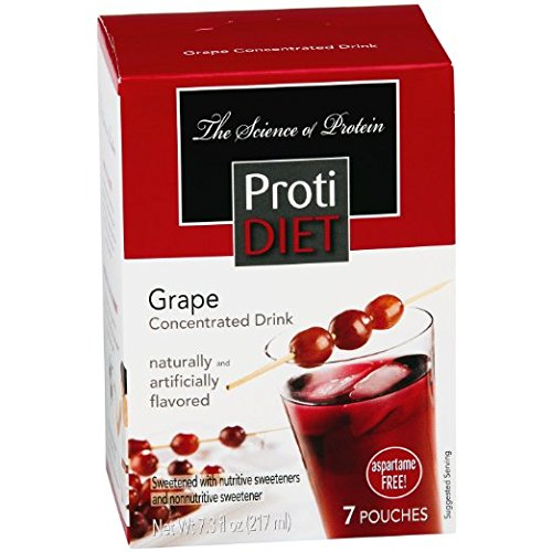 ProtiDiet Grape Concentrated Drink Mix (7 servings) (Grape Protein Drink compare prices)