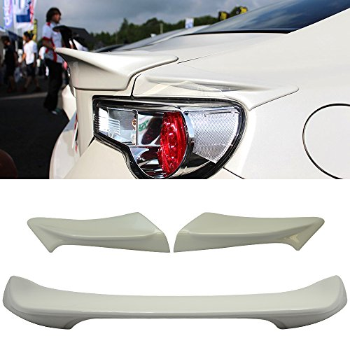 Trunk Spoiler Fits Limited Time Sale! For 2013-2014 BRZ FRS | Painted # 37J Trunk + Side Spoiler -ABS Tail Deck Lid Bodykit by IKON MOTORSPORTS