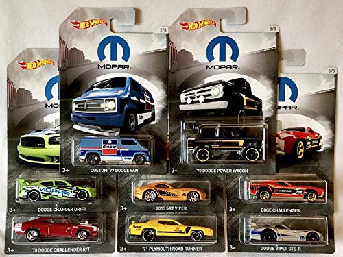 HW Mopar 2018 Set of 8 with Power Wagon