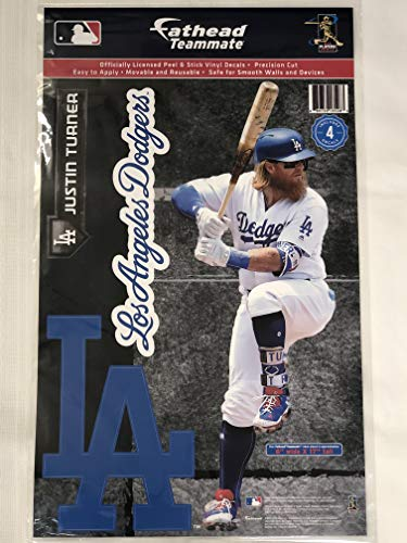 SP Images Inc. Justin Turner Dodgers Fathead Teammate Sticker Wall Decal 17x6