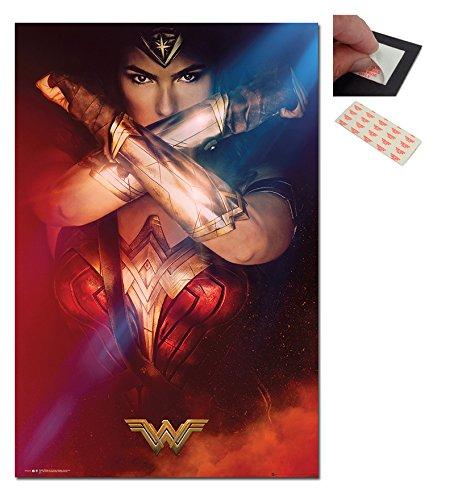 Bundle - 2 Items - Wonder Woman Crossed Arms Poster - 91.5 x