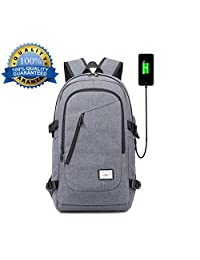 Laptop Backpack with USB Charging Port, Yawao School Business travel anti theft waterproof Larger Capacity, Fits 15/15.6 inch and below Laptop/Notebook