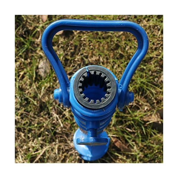 Yardwe 2Pezzi Picchetto di Supporto per ombrellone Mare Spiaggia in plastica Porta ombrellone da Spiaggia,Blu (16.5 x 7… 4 spesavip