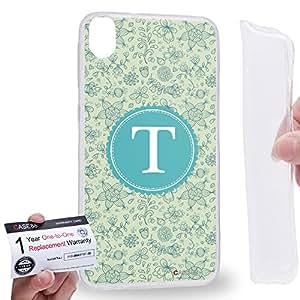 Case88 [HTC Desire 820] Gel TPU Carcasa/Funda & Tarjeta de garantía - Art Typography Fashion Alphabet T Style Art1263
