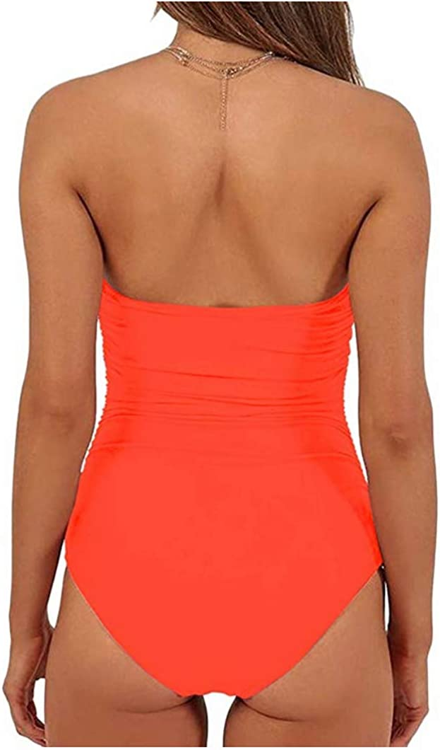 Billiant Womens One Piece Swimsuits Tie Knot Front High Waisted Tummy Control Bathing Suits