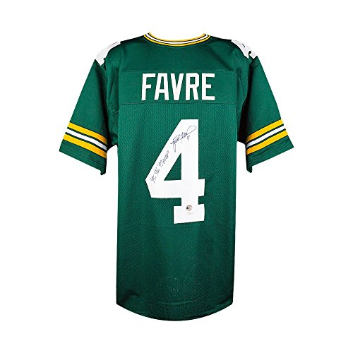 Brett Favre MVP Autographed Green Bay Packers Custom Green Football Jersey - JSA COA