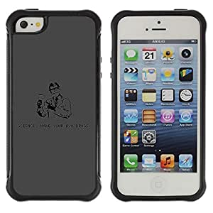 Hybrid Anti-Shock Defend Case for Apple iPhone 5 5S / Science & Drugs