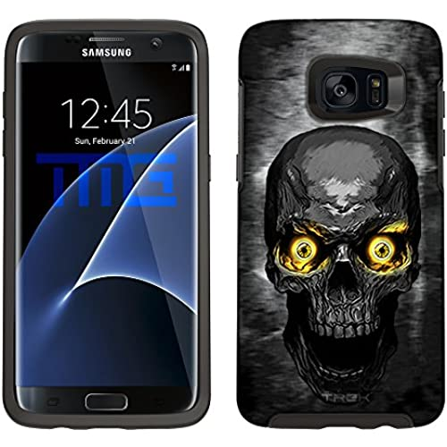 Skin Decal for Otterbox Symmetry Samsung Galaxy S7 Edge Case - Skull Colored Eyes Yellow Sales