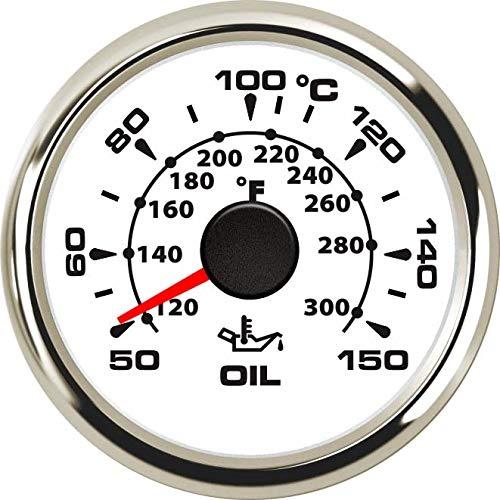 ELING Oil Temp Gauge Meter 50-150℃ with 8 Backlights 2'' 9-32V by ELING